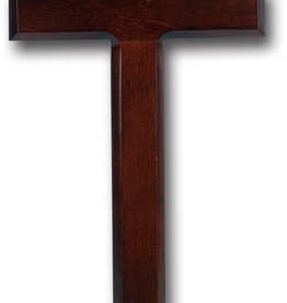 WJ Hirten Dark Cherry Wood Cross 12""