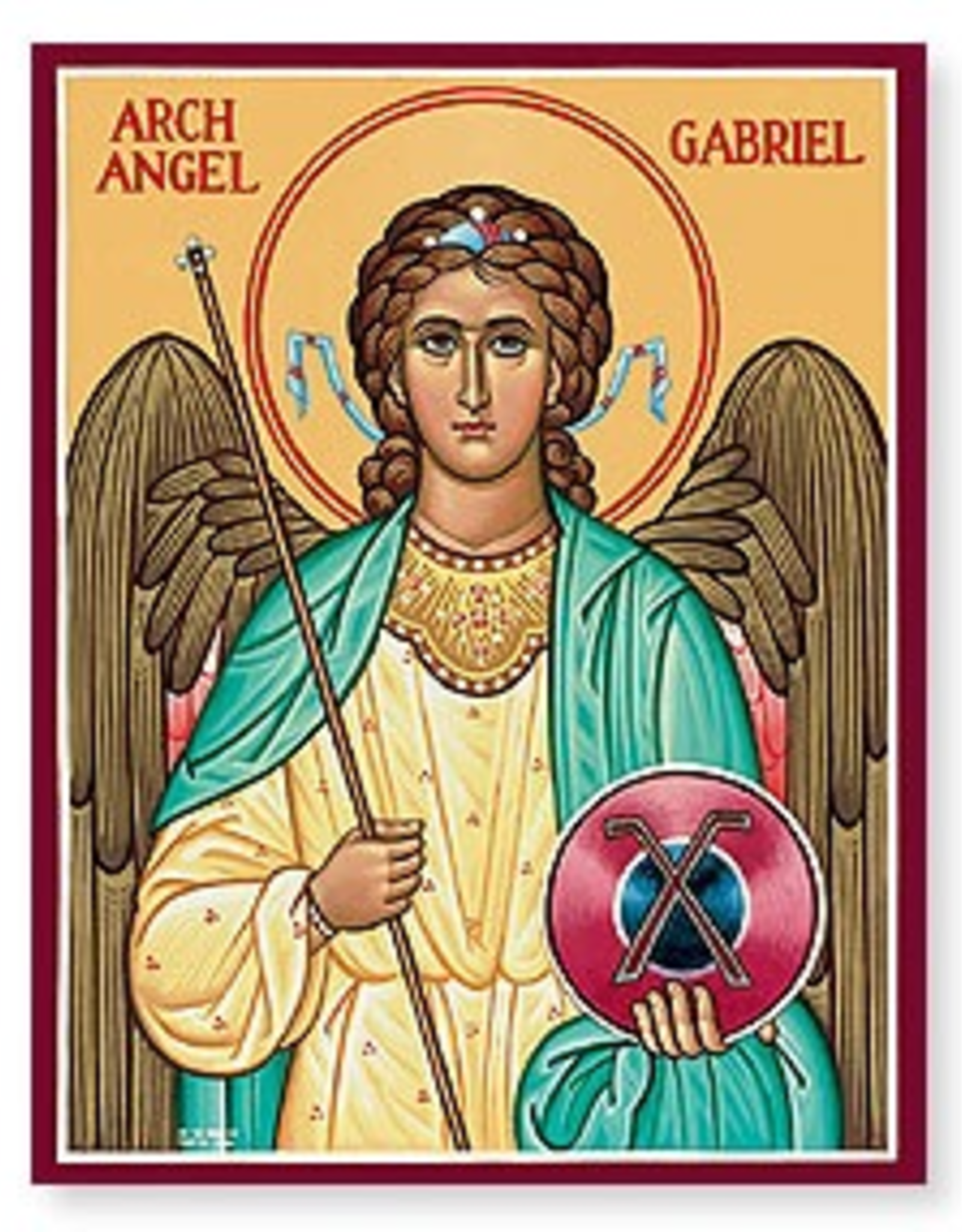 "Monastery Icons 3"" x 4"" St. Gabriel Icon"