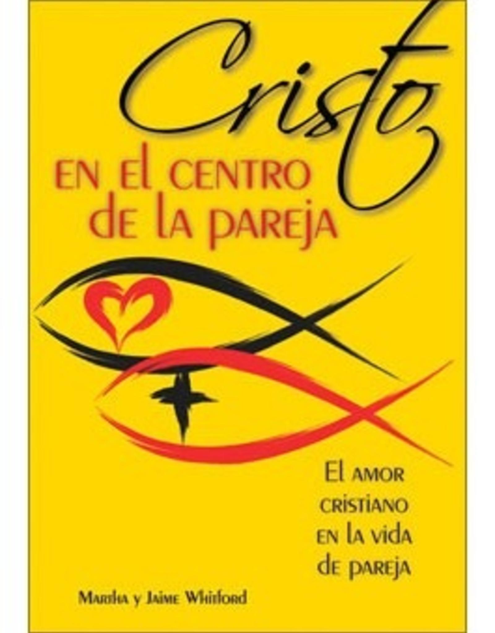 Liguori Cristo en el centro de la pareja,  Jaime Y Martha Whitford