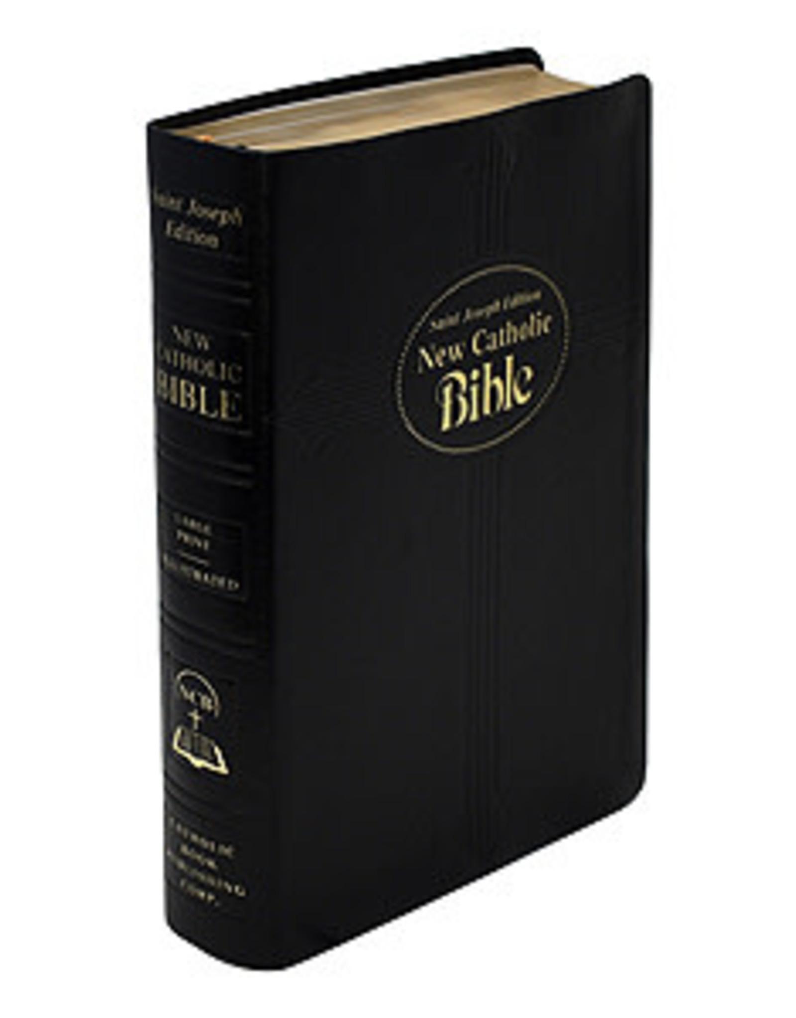 St. Joseph New Catholic Bible (Large Type)(Black Dura-lux Leather)