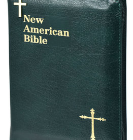 Catholic Book Publishing St. Joseph New American Bible, Compact, Green Bonded Leather w/ Zipper
