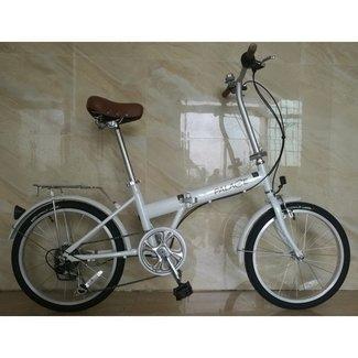 K-Rock Folding Bicycle Steel 6 Speed White
