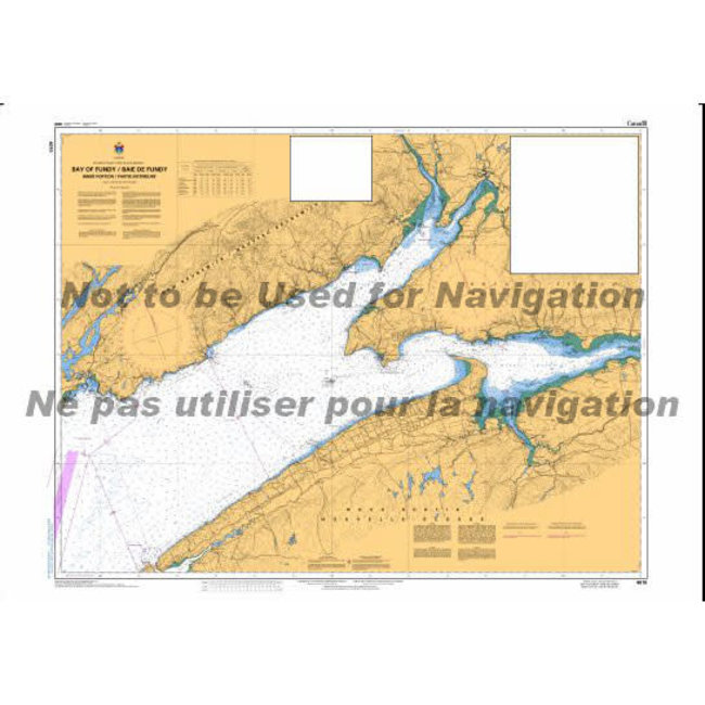 Hydrographic Bay Of Fundy