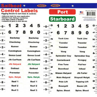 Brewers Marine Supply Sailboat Control Labels