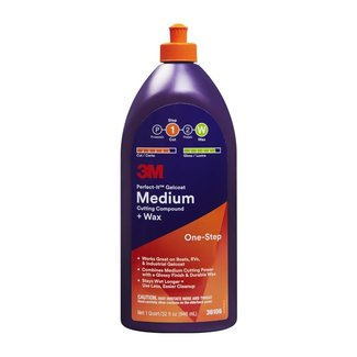 3M Perfect-It Medium Compound + Wax Quart