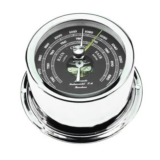 Victory Barometer Chrome W/Black