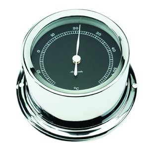 Victory Thermometer Chrome W/Black