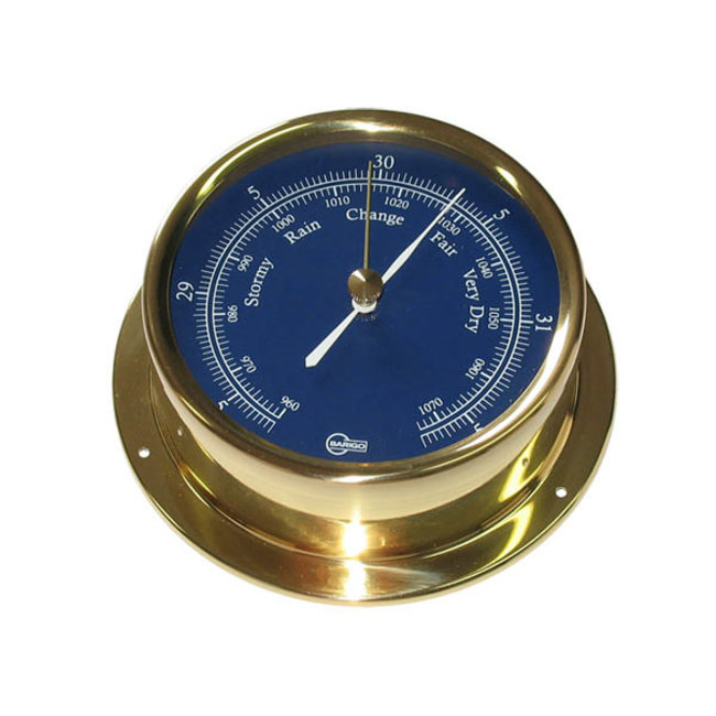 """Victory Barometer 4"""" Brass Blue Dial"""