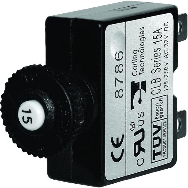 Blue Seas Breaker Push Button 15 Amp