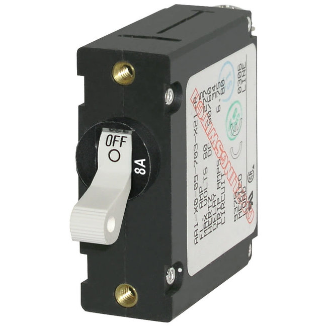 Blue Seas Circuit Breaker AA1 - 8Amp White