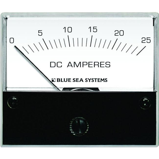 Blue Seas Ampmeter DC 2 3/4 0-25 w/Int Shunt