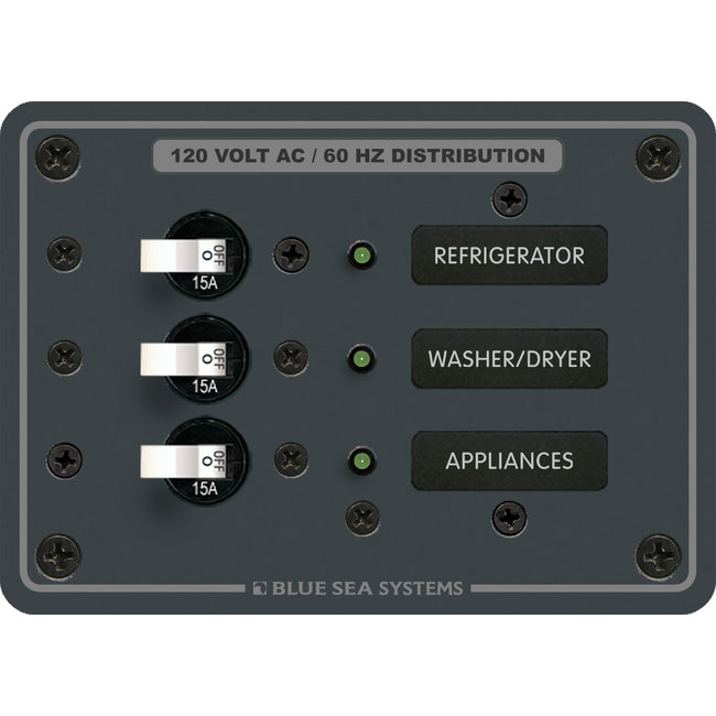 Blue Seas AC Panel 3 Position