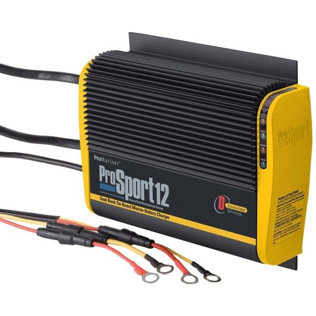 Promariner Battery Charger Prosport 12 Amp 2 Bank 12V