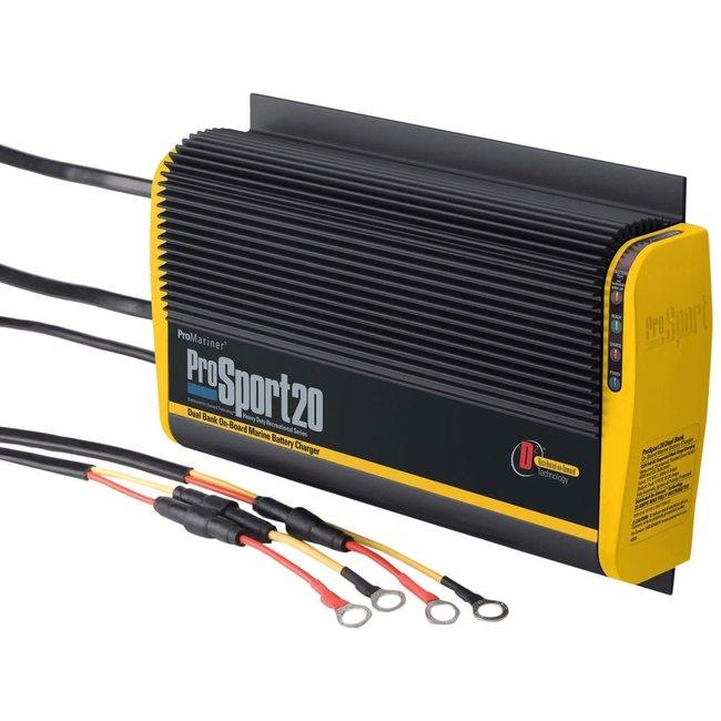 Promariner Battery Charger Prosport 20 Amp 2 Bank 12V
