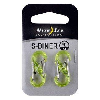 Niteize S-Biner Size 0 Plastic Lime 2 Pk