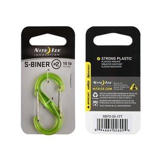 Niteize S-Biner Size 2 Plastic Translucent Lime