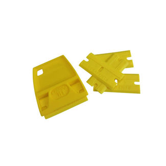 Scraperite Yellow Plastic Scraper with Handle