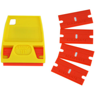 Scraperite Scraper Razor Blades & Handle 5pk Orange