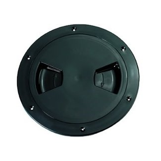 """AAA Deck Plate 4"""" Black Threaded With O-Ring"""