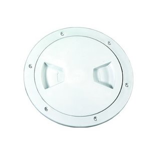 """AAA Deck Plate 6"""" White Threaded With O-Ring"""