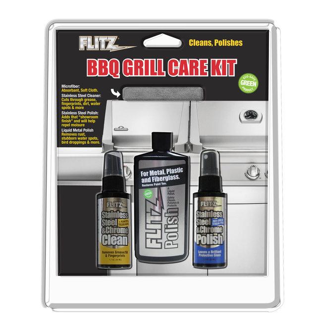 Flitz Cleaner BBQ Grill Kit