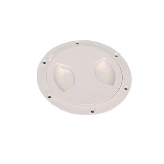 """AAA Deck Plate 5"""" White Threaded w/o Ring"""