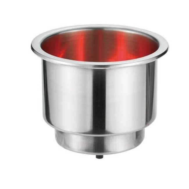 """Victory Can Holder w/Red LED base 2-5/8"""" Dia. x 3""""H"""