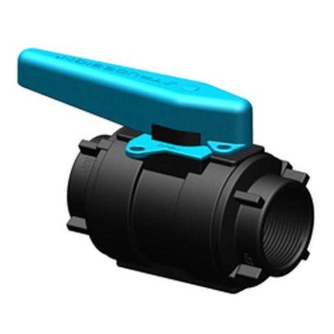 "Tru Design Plastics Ltd. Ball Valve Glass Reinf. 3/4"" Polymer Black"