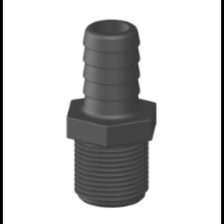 "Tru Design Plastics Ltd. Hose Barb GRP Thread 3/4"" NPS"