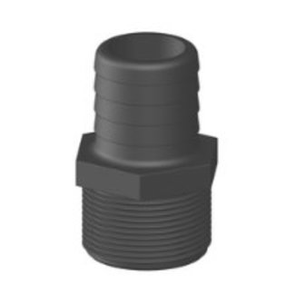 "Tru Design Plastics Ltd. Hose Barb GRP Long Thread 1-1/2"" NPS"