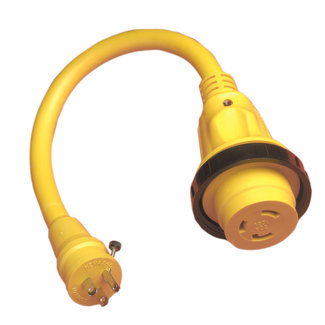 Marinco Adapter 15M 30F Plus