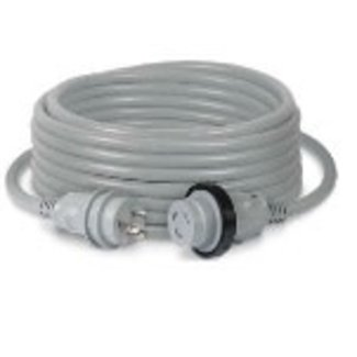 Marinco Power Cord 50' Gray 30AMP w/LED
