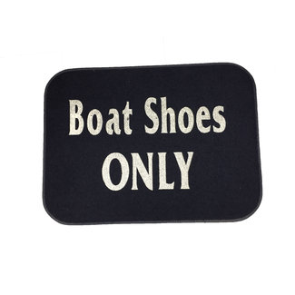 Brewers Marine Supply Welcome Mat Boat Shoes Only Navy
