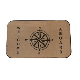 Brewers Marine Supply Mat Welcome Aboard Tan