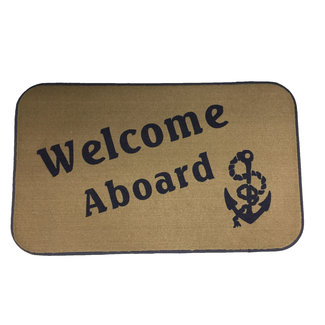 Brewers Marine Supply Welcome  Mat Tan