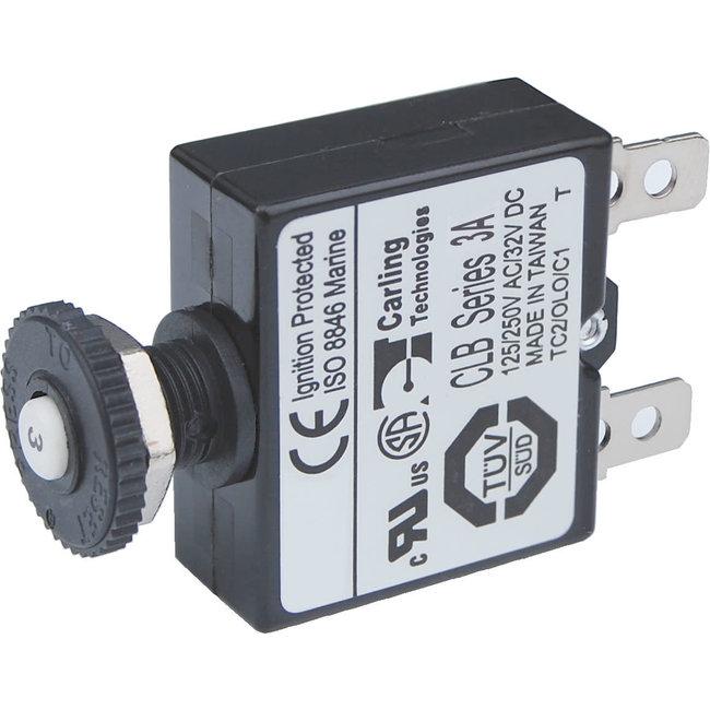Blue Seas Circuit Breaker, Push Button 3amp