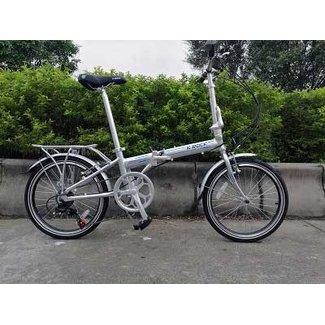 K-Rock Folding Bicycle Aluminum Silver