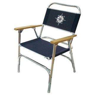 Brewers Marine Supply Deck Chair Blue Compass