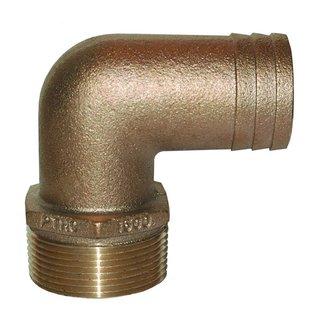 "Groco Bronze 90*Pipe/Hose Adapter 1-1/4"""