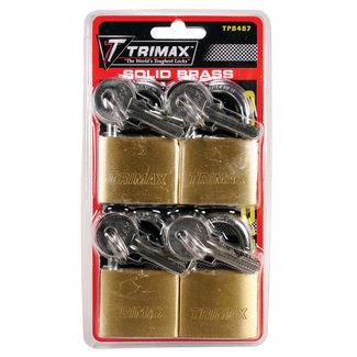 Trimax Padlock 4Pk Waterproof