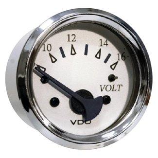 Seachoice Voltmeter 8-16V Chro/Wht