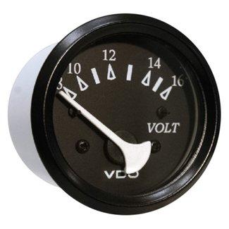 Seachoice Voltmeter 8-16V Blk/Blk