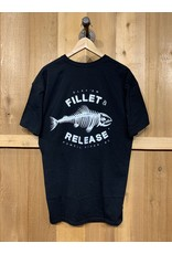 FILLET & RELEASE FILLET & RELEASE BLACK T-SHIRT (large logo on back)