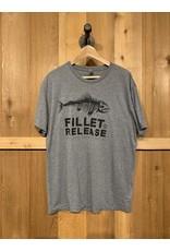 FILLET & RELEASE FILLET & RELEASE GREY T-SHIRT