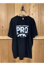 PRO PRO LOGO BLACK T-SHIRT (front logo)