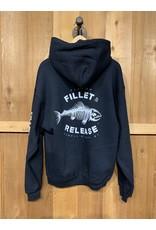 FILLET & RELEASE THE ORIGINAL FILLET & RELEASE BLACK HOODIE