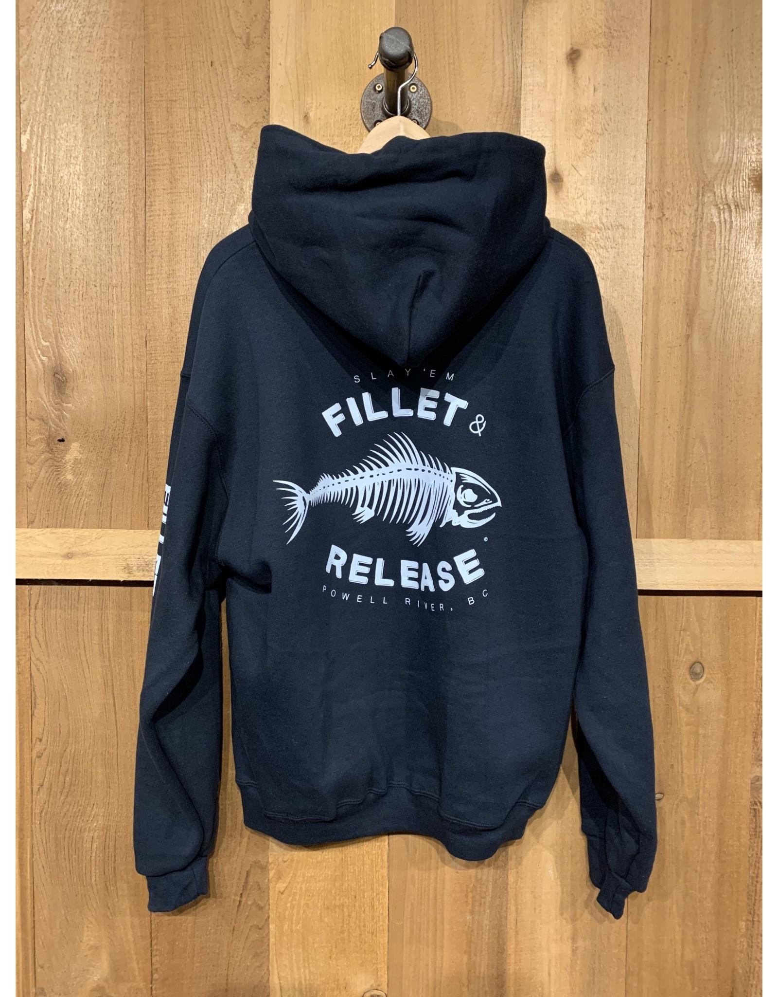FILLET & RELEASE FILLET & RELEASE BLACK HOODIE