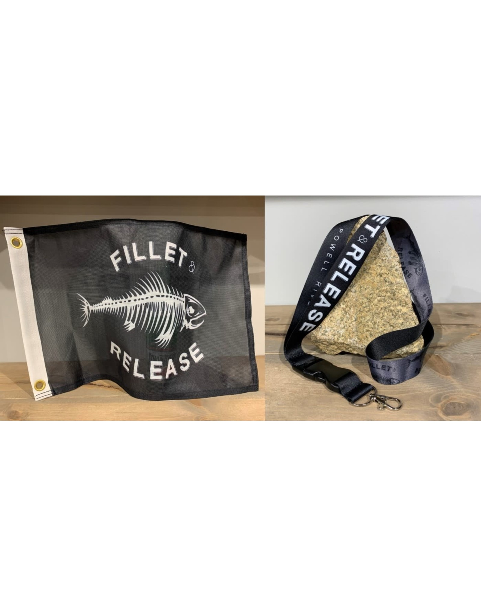 FLAGS UNLIMITED FILLET & RELEASE FLAG & KEYCHAIN COMBO