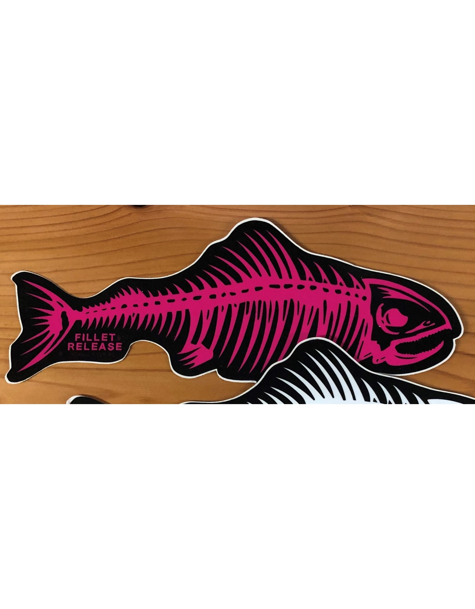 PRO LARGE FILLET & RELEASE FISH DECAL