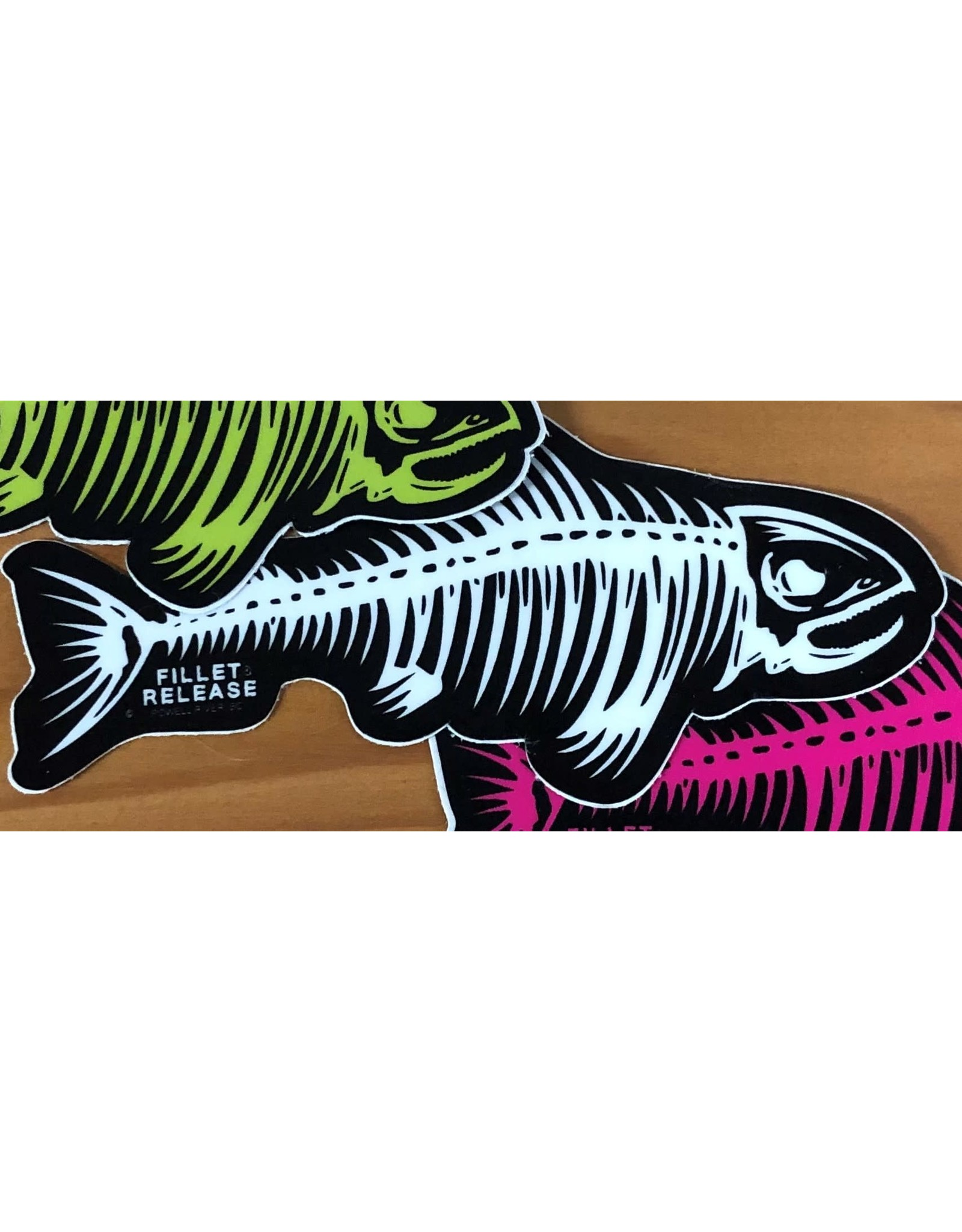 PRO SMALL FILLET & RELEASE FISH DECAL